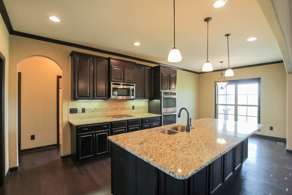 Sears Clarksville Tn for a Contemporary Kitchen with a Kitchen Cabinets and Brick and Stone Two Story with Neighborhood Amenities by Crabbe Homes