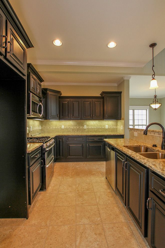Sears Clarksville Tn for a Traditional Kitchen with a Ceramic Tile Floors and Custom Home in Stones Manor by Crabbe Homes
