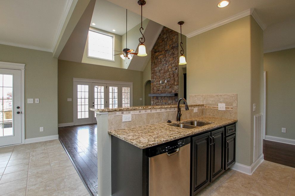 Sears Clarksville Tn for a Traditional Kitchen with a Open Floorplan and Custom Home in Stones Manor by Crabbe Homes