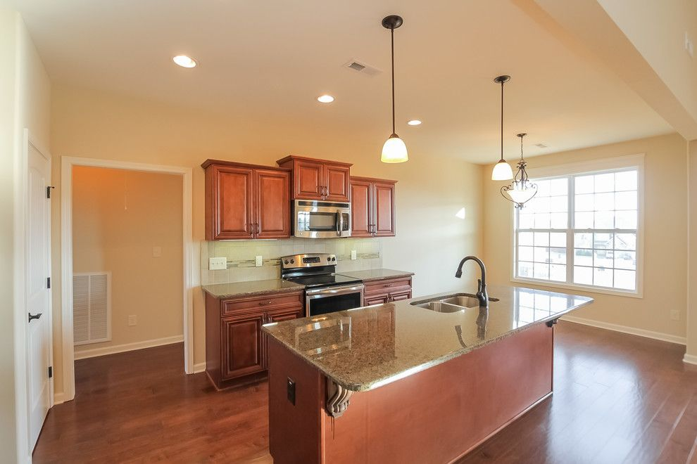 Sears Clarksville Tn for a Transitional Kitchen with a Windows and Spacious Split Level in Farmington Subdivision by Crabbe Homes