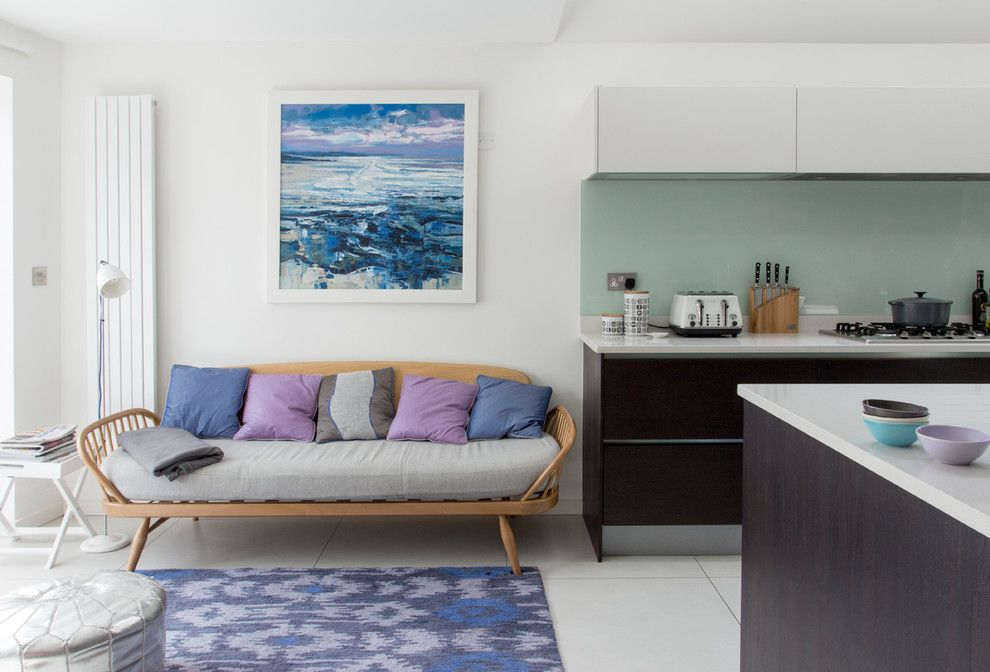 Sears Kit Homes for a Contemporary Living Room with a Indigo and Edwardian House, South West London by Rebecca Hayes Interiors