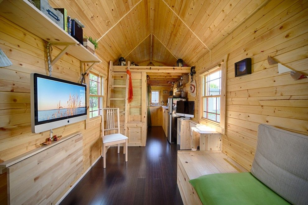 Sears Kit Homes for a Rustic Living Room with a Mac and Our Tiny Tack House by the Tiny Tack House