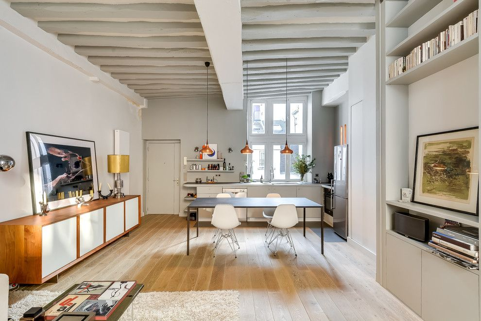 Sears Kit Homes for a Scandinavian Dining Room with a Scandinavian and Apartment in Historical Paris by Tatiana Nicol