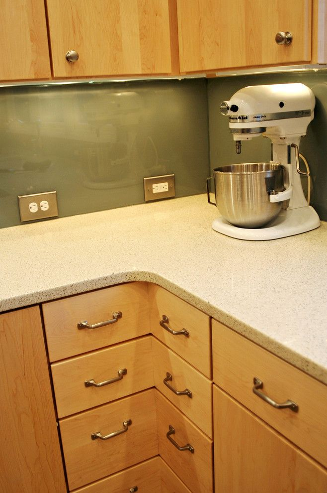 Sears Outlet Portland for a Contemporary Kitchen with a Glass Backsplash and Harrison Street House Kitchen by Angela Strickland