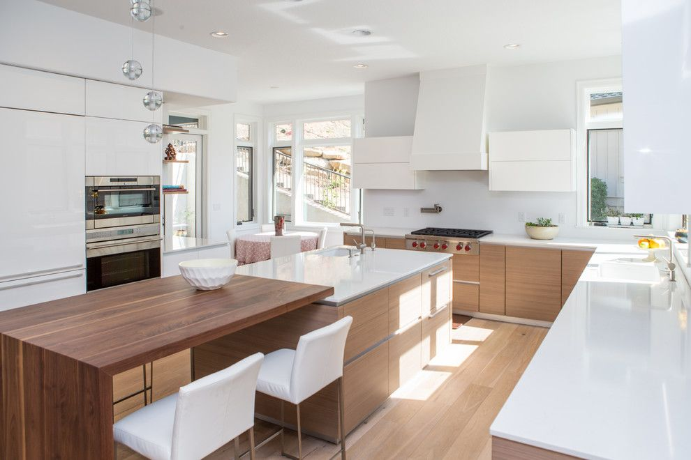 Sears Outlet Portland for a Contemporary Kitchen with a Walnut Cabinetry and Lake Oswego Residence by Pedini Seattle