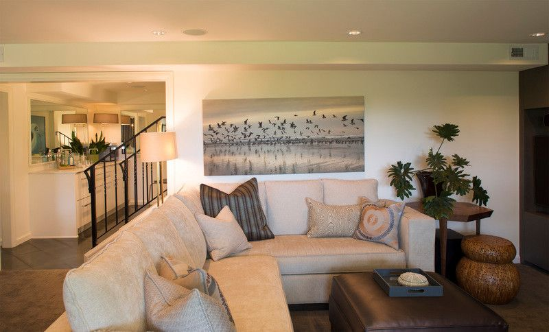 Sears Outlet Portland for a Transitional Basement with a Custom Cabinets and Cumberland Basement Remodel by Lord Design
