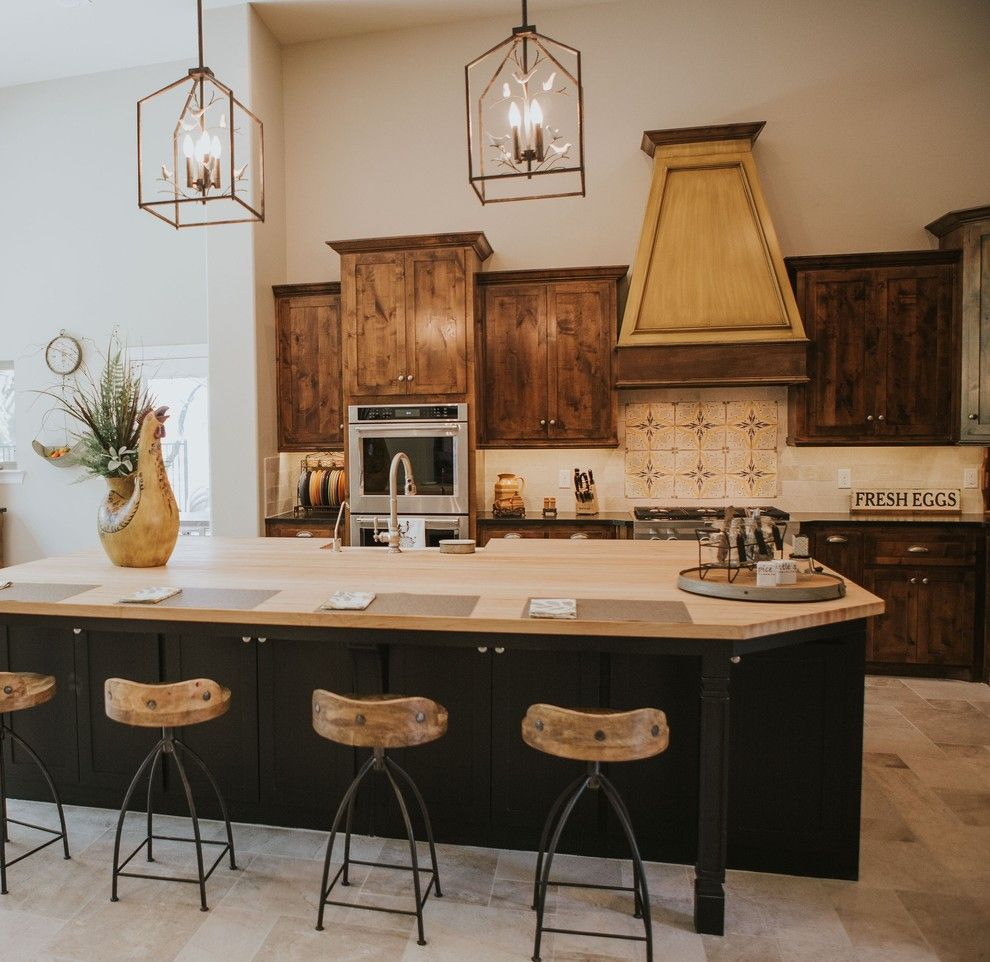 Sears San Angelo for a Farmhouse Kitchen with a Pendants and San Angelo Farmhouse by Le Belle Maison Interiors Inc.