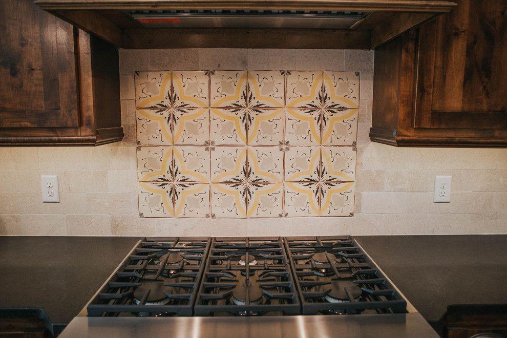 Sears San Angelo for a Farmhouse Kitchen with a Tabarka Tiles and San Angelo Farmhouse by Le Belle Maison Interiors Inc.