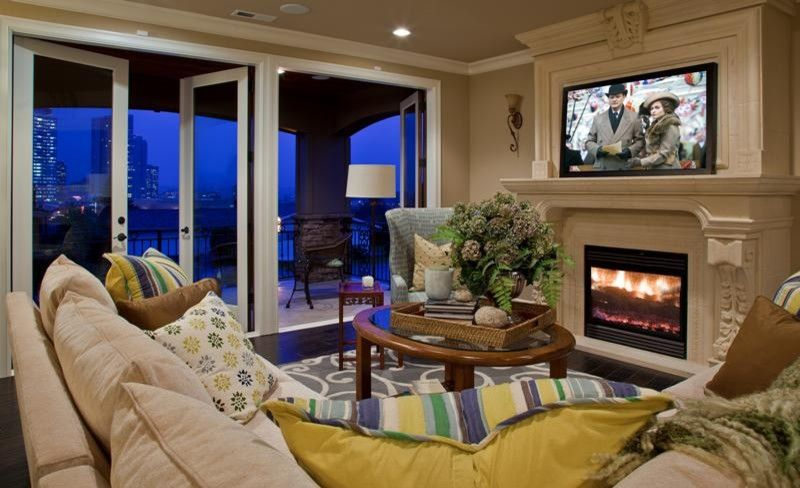 Seattle Yoga Arts for a Mediterranean Family Room with a Mediterranean and Vuecrest Roccoco by Lakeville Homes