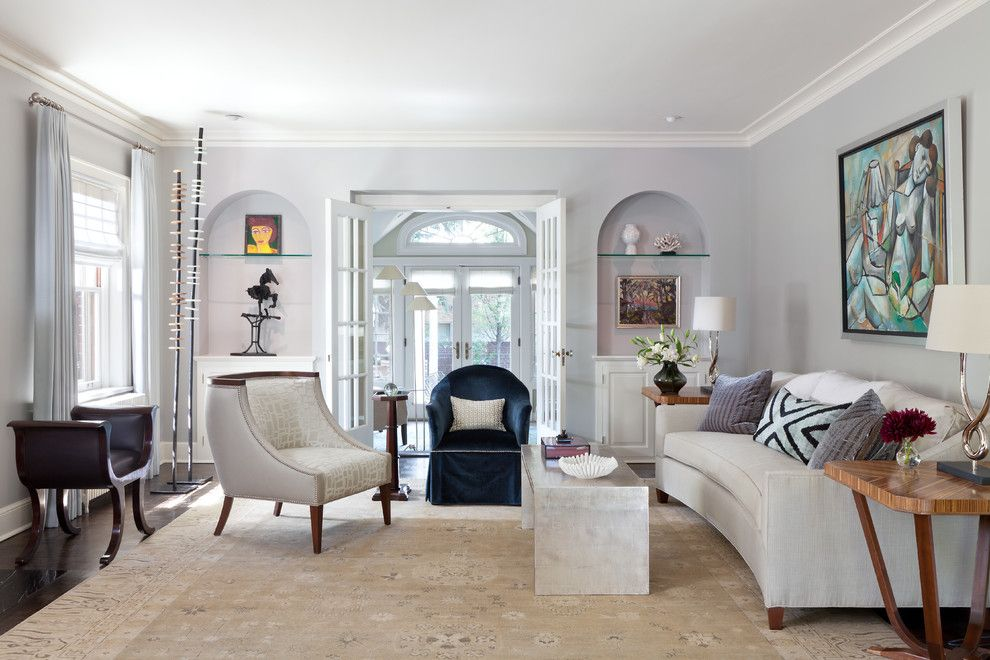 Sedgefield Country Club for a Transitional Living Room with a Blue Walls and Denver Country Club by Nancy Sanford, Inc.