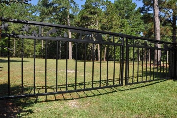 Seegars Fence for a  Exterior with a Aluminum Railing and Our Fences by Seegars Fence Company