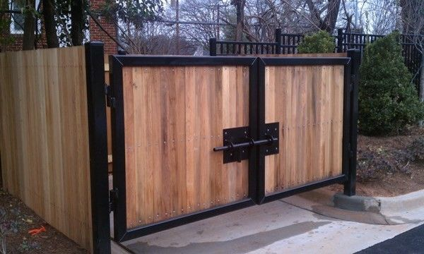 Seegars Fence for a  Exterior with a Wood Gate and Our Fences by Seegars Fence Company