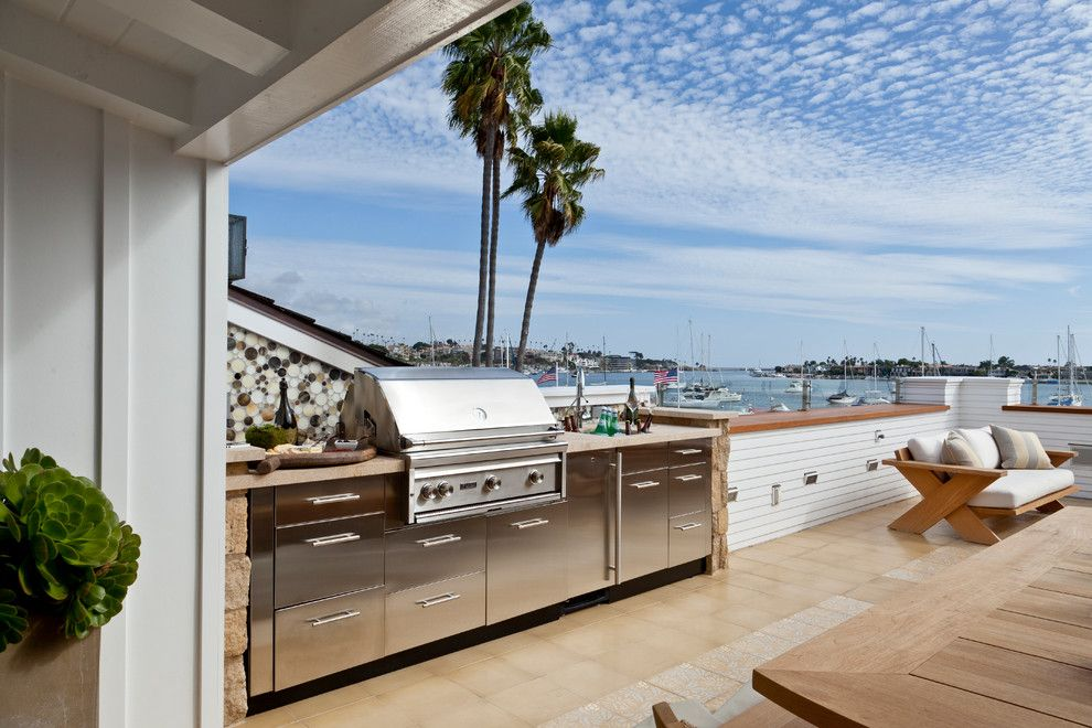 Self Serve Lumber for a Beach Style Deck with a Beach Style and Little Balboa Island by Anne Michaelsen Design