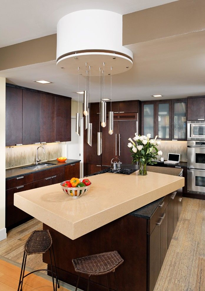 Self Serve Lumber for a Modern Kitchen with a Custom Lighting and Kitchen Renovation by Landis Architects / Builders