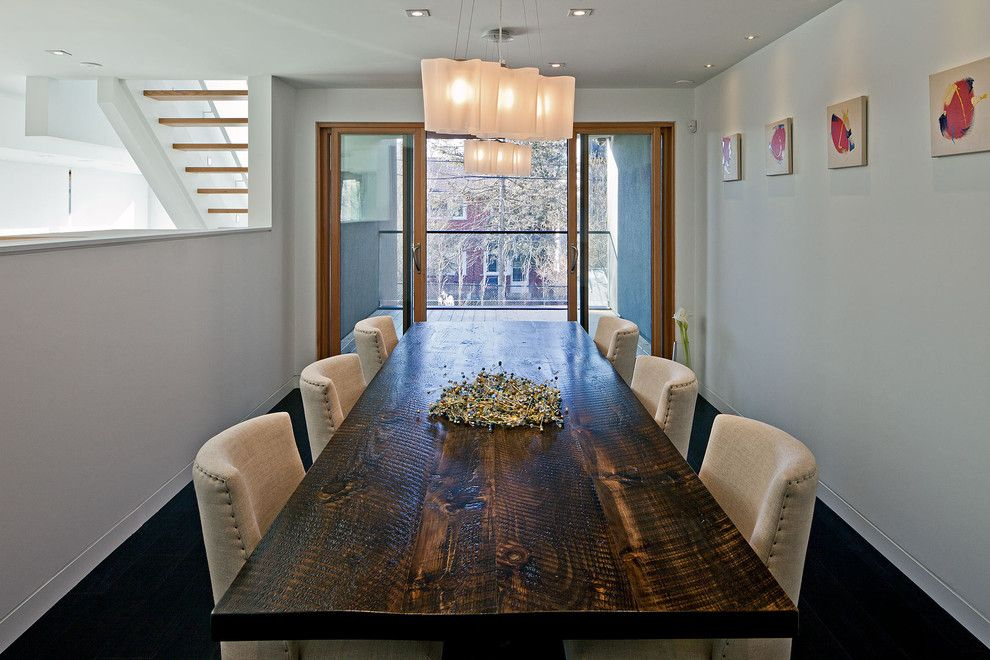 Sellars for a Contemporary Dining Room with a Upholstered Dining Chairs and 150 W by Peter A. Sellar   Architectural Photographer