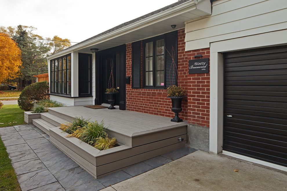 Sellars for a Contemporary Exterior with a Black Shutters and Brucewood by Peter A. Sellar   Architectural Photographer