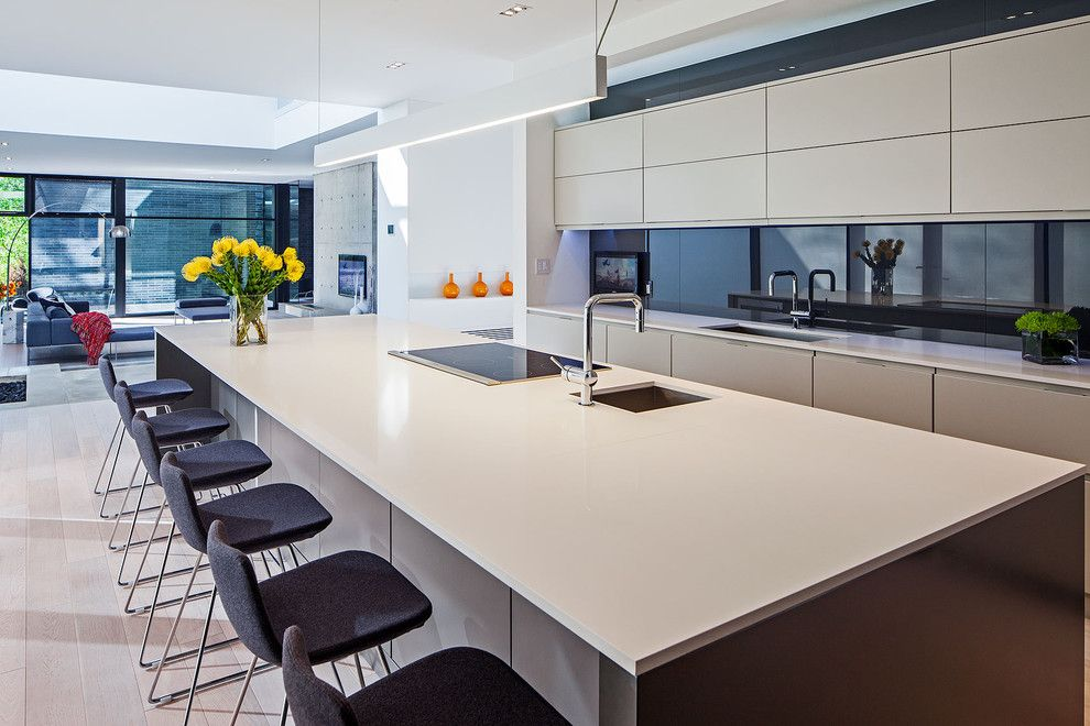 Sellars for a Scandinavian Kitchen with a Kitchen Island and Modern Home in Oakville Ontario by Peter A. Sellar   Architectural Photographer