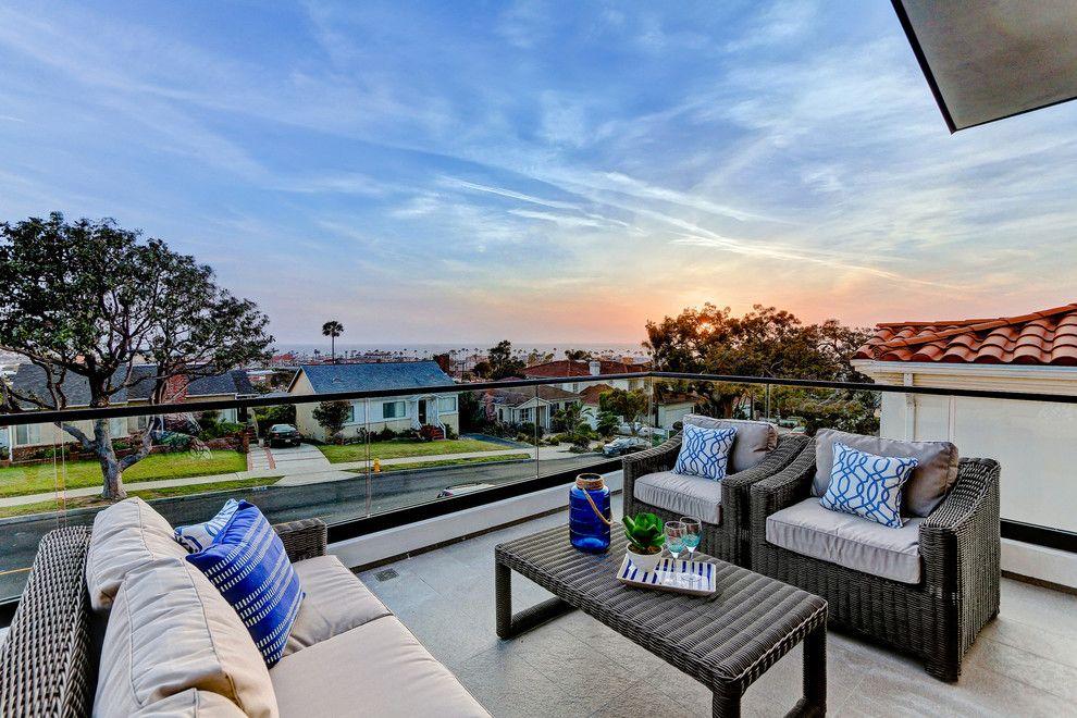 Serenata Beach Club for a Beach Style Balcony with a Deck and 327 Avenue F, Redondo Beach by CMS Interior Design Inc.