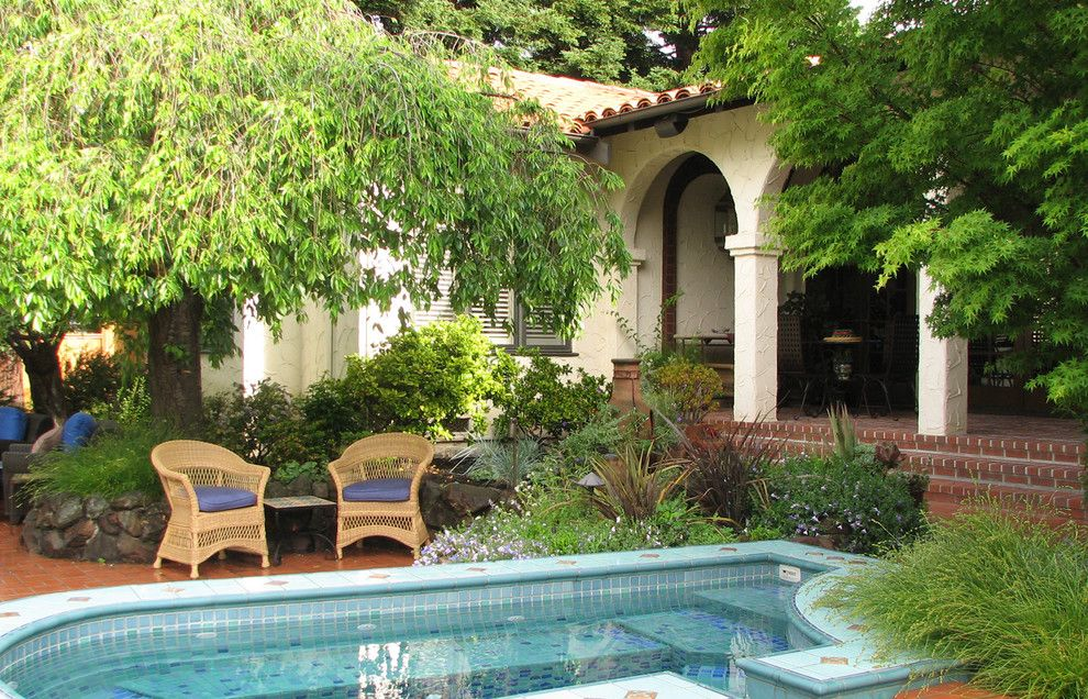 Serenity Med Spa for a Mediterranean Patio with a Archway and Casa California by John Montgomery Landscape Architects
