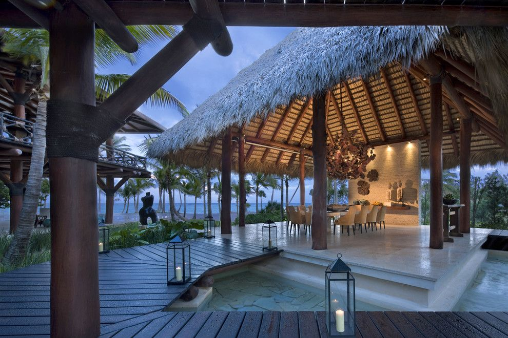 Serenity Med Spa for a Tropical Patio with a Palm Trees and Beachside Residence by Dan Forer, Photographer