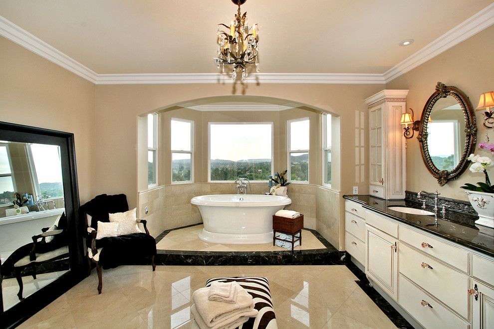 Sherwin Williams Flooring for a Contemporary Bathroom with a Crown Molding and No 2 by Tina Kuhlmann