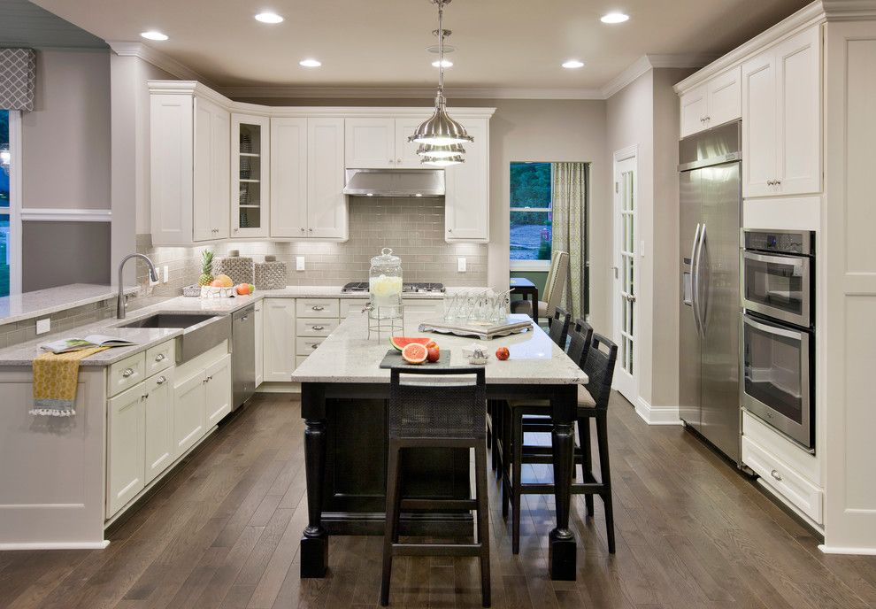 Sherwin Williams Flooring for a Traditional Kitchen with a Counter Stools and Reserve at Medina by Mary Cook
