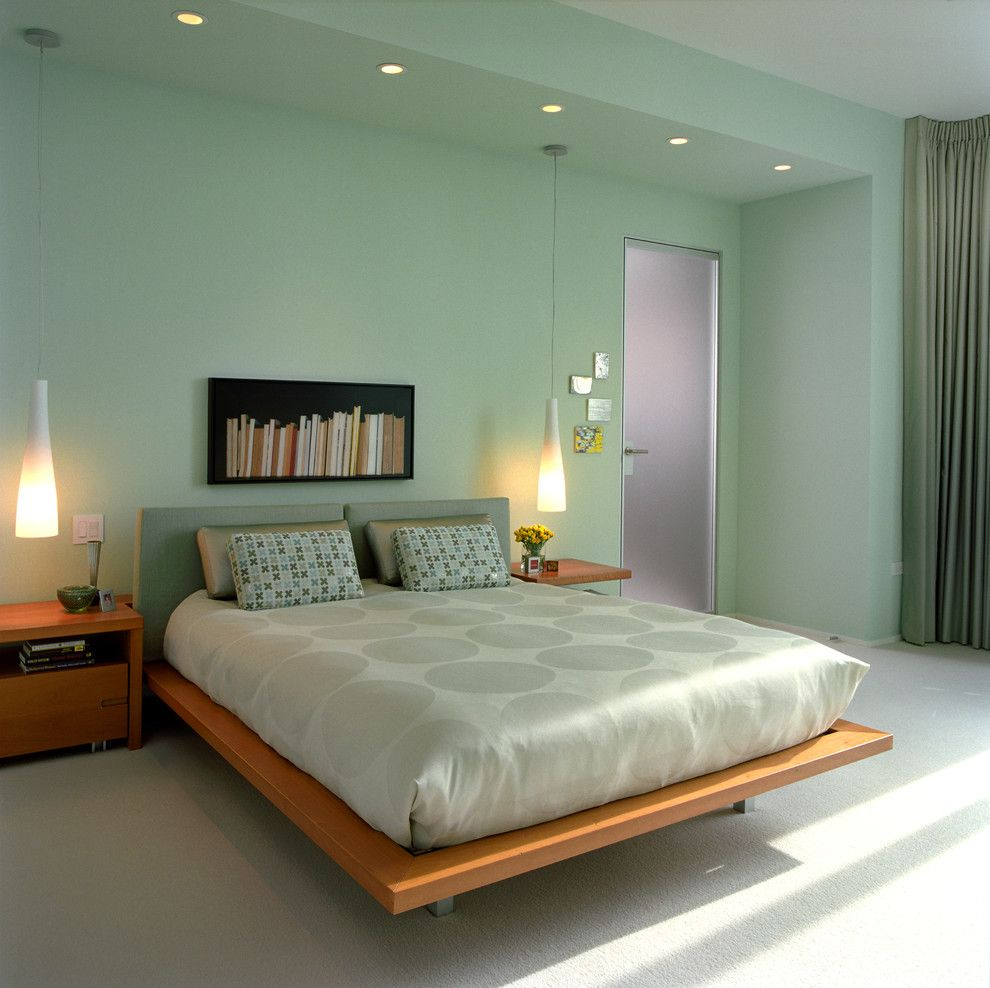 Sherwin Williams Paint Visualizer for a Contemporary Bedroom with a Polka Dot Bedding and West Side Modernism by Michael Richman Interiors