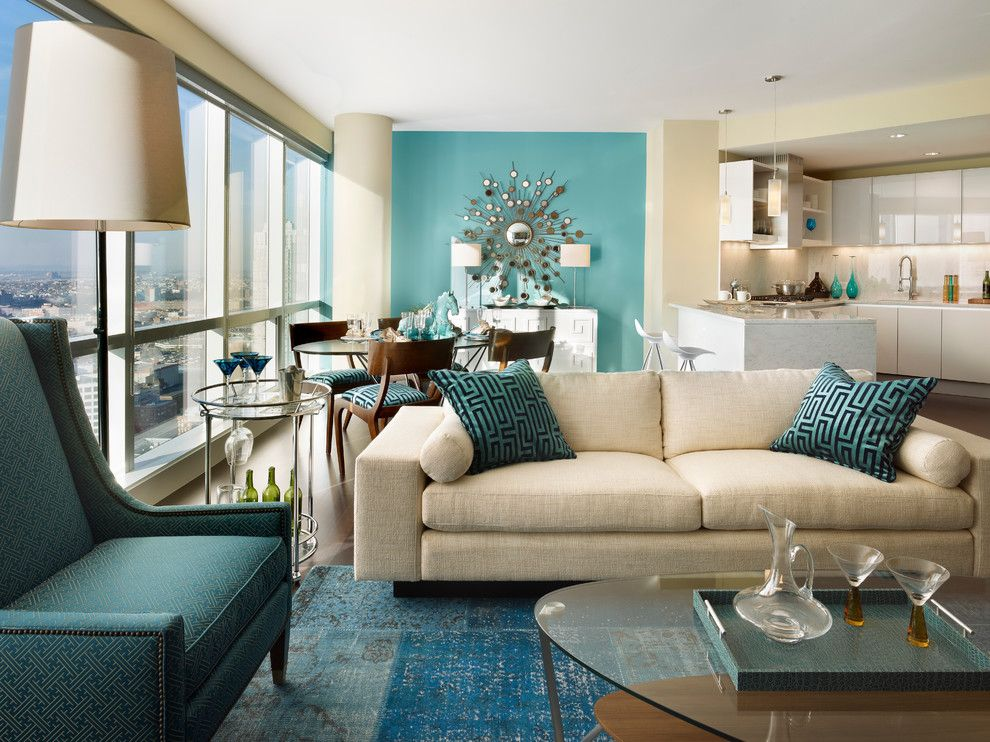 Sherwin Williams Paint Visualizer for a Contemporary Living Room with a Floor Lamp and City Living on the Hudson by Gacek Design Group, Inc.