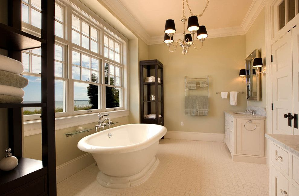 Sherwin Williams Paint Visualizer for a Traditional Bathroom with a Bathroom Mirror and the Redfield Home by Mitch Wise Design,Inc.