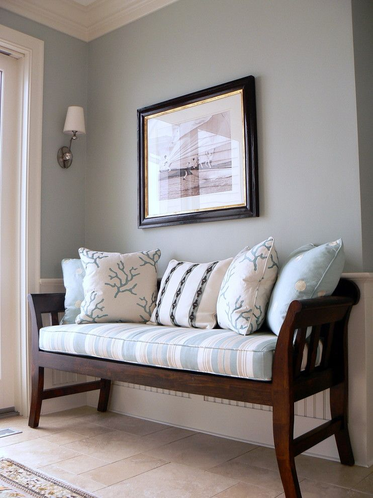 Sherwin Williams Pottery Barn for a Traditional Entry with a Wainscoting and Foyer by Design Studio M