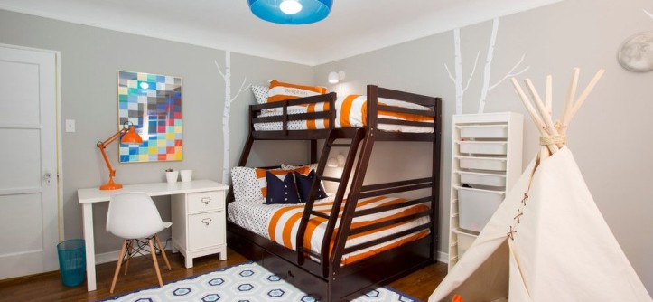 Sherwin Williams Pottery Barn for a Transitional Kids with a Teepee and Happy Camper Boy's Bedroom by Baiyina Hughley Interior Design