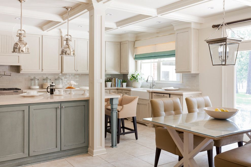 Sherwin Williams Visualizer for a Transitional Kitchen with a Frame and Panel Woodwork and Pleasant Valley by Tobi Fairley Interior Design
