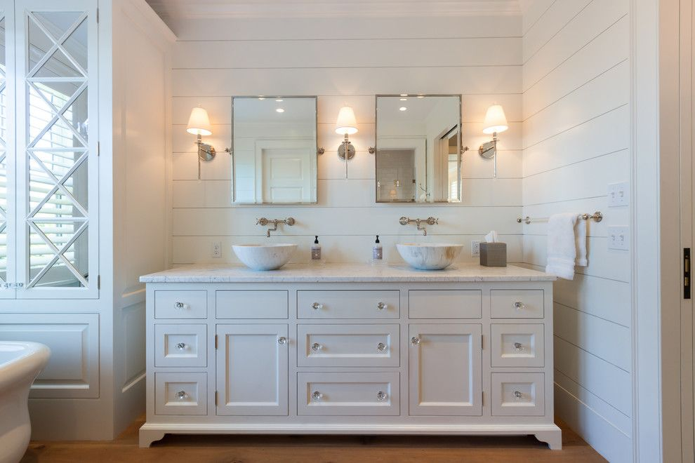 Shipping Crate Homes for a Beach Style Bathroom with a Nantucket Style and Cliff Road Area   Nantucket by Jonathan Raith Inc.