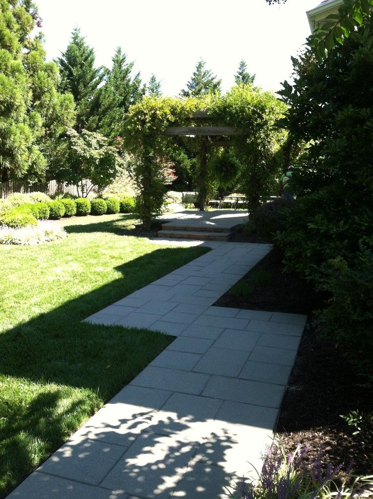 Short Pump Theater for a Contemporary Patio with a Raised Paver Patio and Short Pump Residence by Definity Landscape Group, Llc