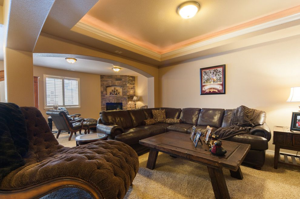 Sierra Vista Theater for a Contemporary Home Theater with a Raised Soffit and Monte Vista by Saddletree Homes