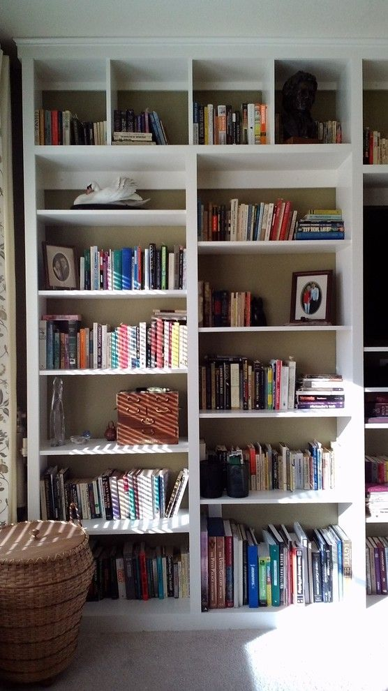 Sierra Vista Theater for a Modern Bedroom with a Open Shelving and Floor to Ceiling Custom Shelving by Mr. Fix It of Sierra Vista, Llc