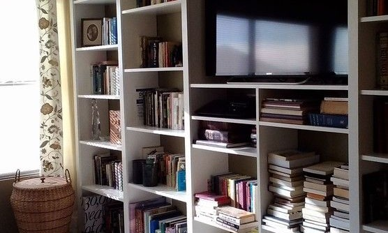 Sierra Vista Theater for a Modern Bedroom with a Organization and Floor to Ceiling Custom Shelving by Mr. Fix It of Sierra Vista, LLC