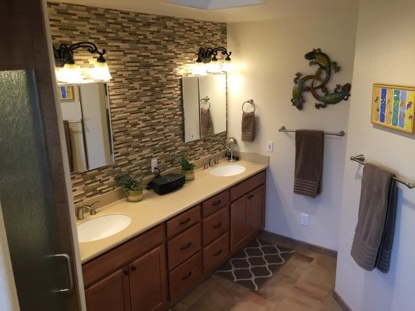 Sierra Vista Theater for a Traditional Bathroom with a Biege Tan Brown and Spa Master Bathroom Remodel by Mr. Fix It of Sierra Vista, Llc