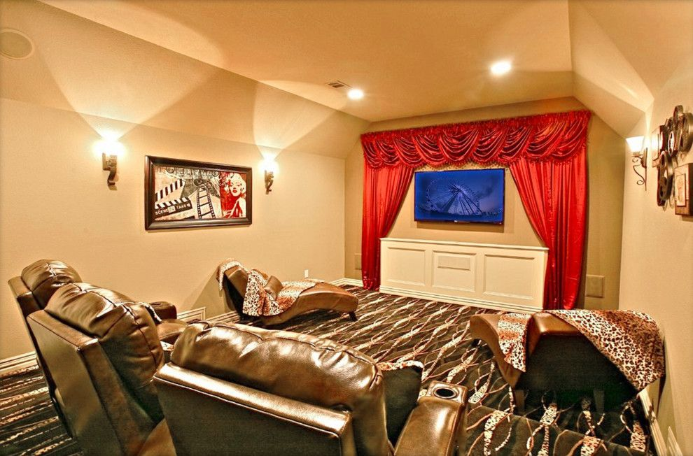 Sierra Vista Theater for a Traditional Home Theater with a Wood Paneling and Clear Vista by Starwood Custom Homes