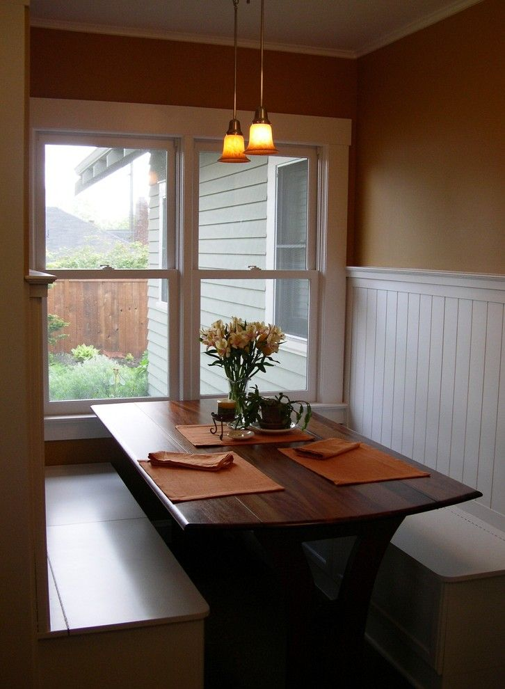 Siesta4rent for a Traditional Dining Room with a Wainscot and Bungalo Eating Nook by Maughan Design & Remodel