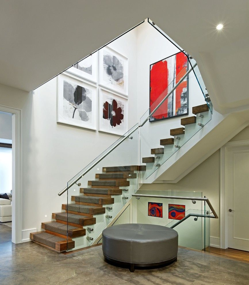 Sighn for a Contemporary Staircase with a Stairwell and Staircase by Douglas Design Studio
