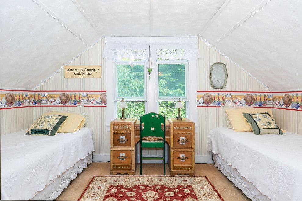 Sighn for a Farmhouse Bedroom with a Attic Room and Farmhouse Bedroom by Houzz.com