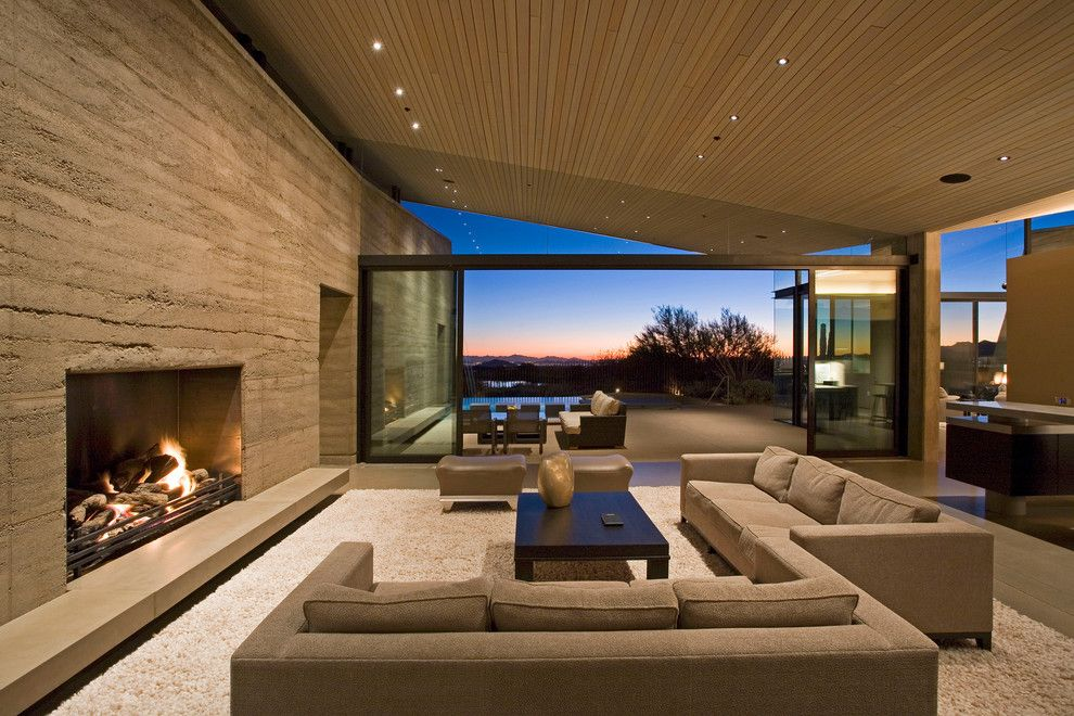 Sightline for a Contemporary Living Room with a Sliding Doors and Fleetwood Distinguished Photos by Fleetwood Windows & Doors