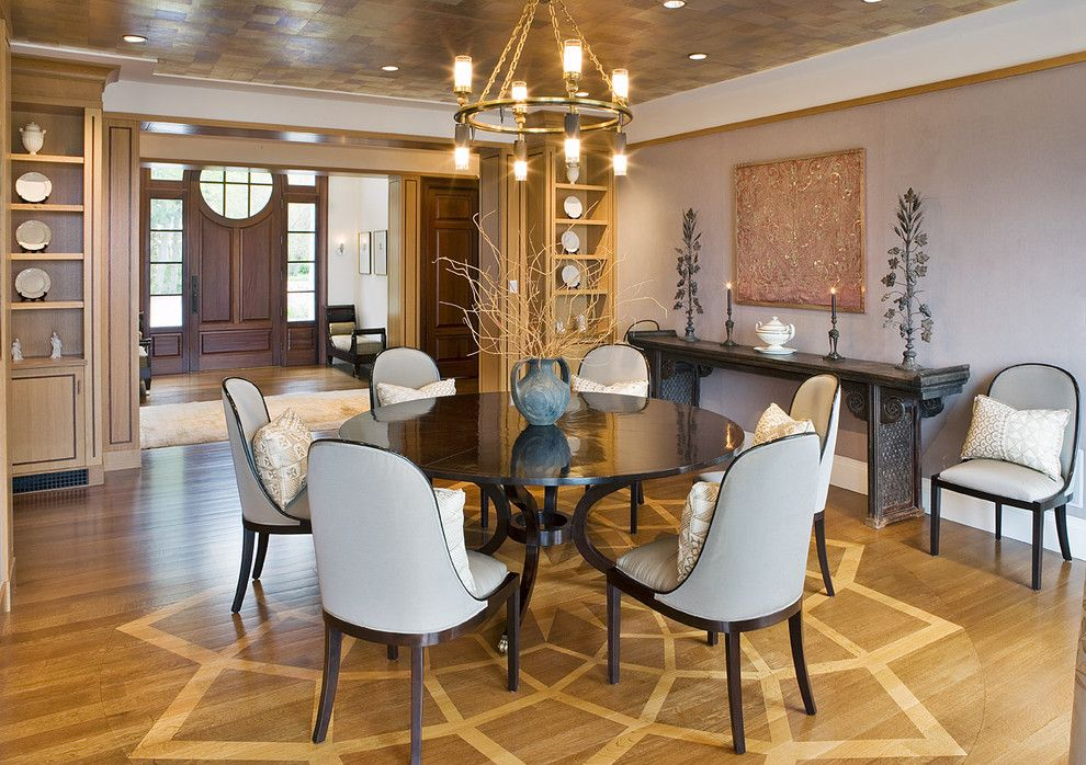 Silver Legacy Buffet for a Contemporary Dining Room with a Design Hardwood Flooring and Dining Room by Nicholaeff Architecture + Design