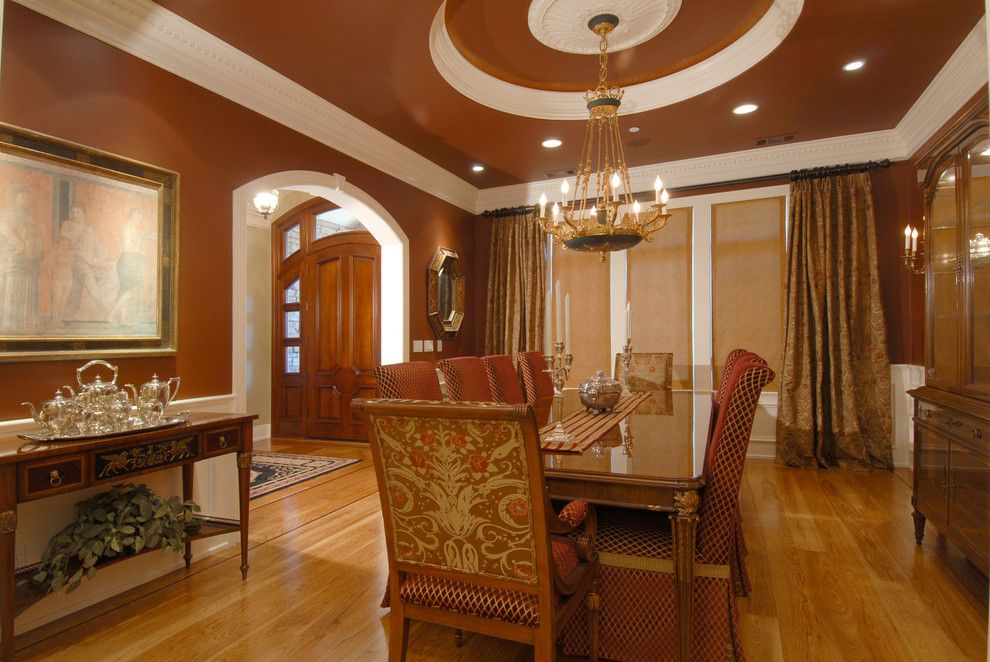 Silver Legacy Buffet for a Traditional Dining Room with a Ornate Ceiling and Traditional Dining Room by Indivar Sivanathan