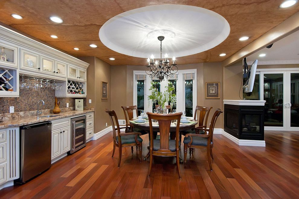Silver Legacy Buffet for a Traditional Dining Room with a Wood Floor and San Jose Home by Mark Pinkerton    Vi360 Photography