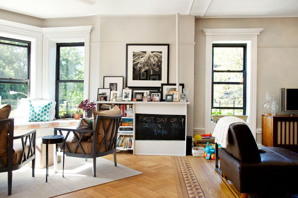 Single Hung vs Double Hung for a Contemporary Family Room with a Window Casing and Park Slope, Brooklyn by Fox Force Five Construction