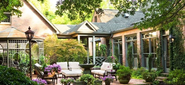 Sioux City Brick for a Traditional Patio with a Patio and City: McDougald Residence by Linda McDougald Design | Postcard From Paris Home