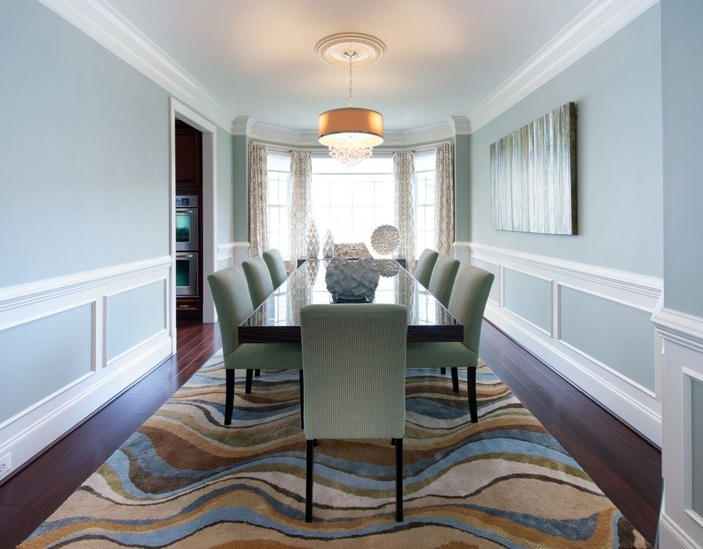 Skim Coat Walls for a Traditional Dining Room with a Unique Dining Room and Modern Meets Traditional Home in the Suburbs by Olamar Interiors