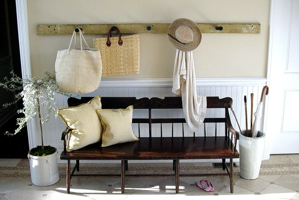 Skim Coat Walls for a Traditional Entry with a Hall and Bridgehampton by Scott Sanders Llc